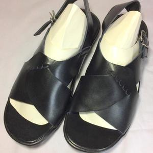 60% OFF New stylish High Quality Black Leather Sandal With Straps For Style & Comfort(Product Promise: Same Product Will Deliver)