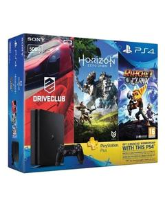 Playstation 4 HITS Bundle 500GB + Horizon Zero Dawn, Ratchet & Clank, and Driveclub + 3 Month PS Plus