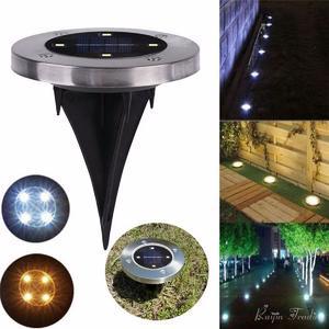 4-LED Solar Light Ground Water-resistant Path Garden Landscape Lighting Yard Driveway Lawn Pond Pool Pathway Night Lamp White light