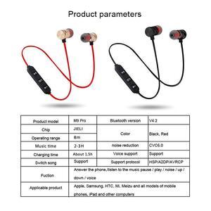 Wireless Bluetooth Handfree Earphone Wireless Bluetooth Headset Handsfree Good Quality Magnatic Sports Bluetooth Earphone wireless Bluetooth sports M5 Magnetic Headphone