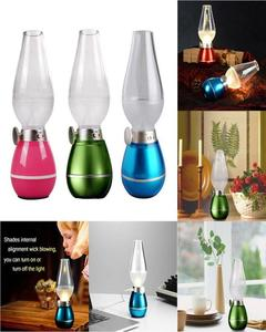 Retro LED Lamp. Blow Control & Dimmable Light. 3 LED Lights & USB Rechargeable