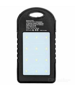 Use Solar Energy - 30,000 Mah Dual Ports Fast Solar Power Bank Portable With Bright Led Torch Lights