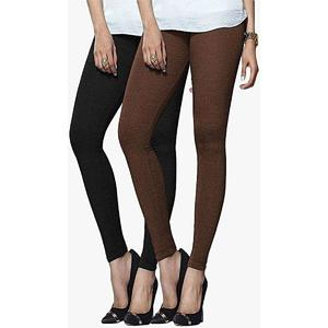 T Shirts & Tops Summer Collection 2019 Pack of -2 Black & Brown Tights For Women