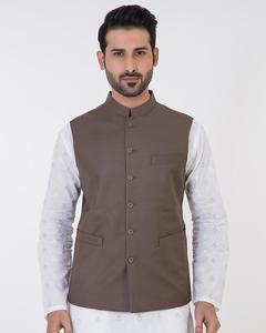 Bonanza Satrangi - Brown Suiting Fabric Waistcoat For Men - 50734-L