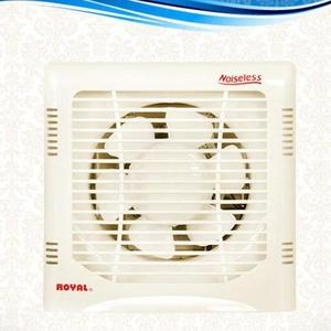 "Royal Fans Exhaust Fan - Plastic Body Fancy - Copper Winding - 10""x10"" Fitting - Off White"