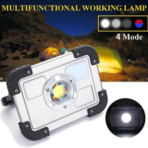 30W LED Portable Rechargeable Flood Light Spot Work Camping Outdoor Lawn Lamp