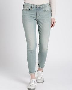 Bluesh Grey Cotton Slim Fit Jeans For Women