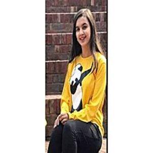Fashion BornYellow Panda Dap Printed T-Shirt For Women