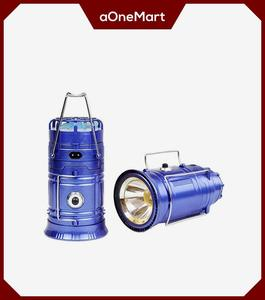 Blue Multipurpose Led Light With Solar Charging & Mobile Charging Usb Doc