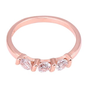 Fashionable Women Ring AAA Zircon Rose Gold Plated rls Finger Jewelry Party fts 9#