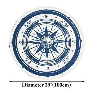 100cm Vintage Nautical Compass Bathroom Rug Nonslip Kitchen Floor Yoga Bath Mat Carpet