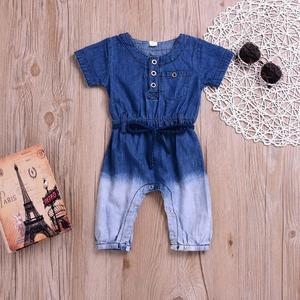 78305dc1b Newborn Baby Girls Boys Gradient Jeans DenimRomper Jumpsuit CasaulClothes