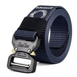 Men's Multi-Functional Army Fan Special Forces Nylon Belt(110CM)-Royal Blue