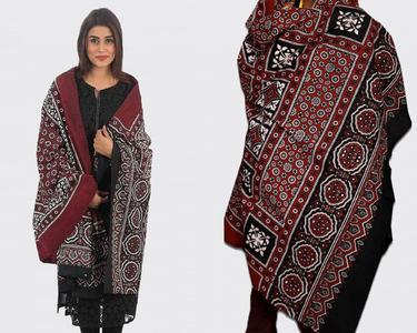 Pack Of 2 - Multicolor Color 100% Cotton Sindhi Ajrak Scraf