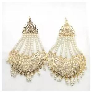 earrings zarcon traditional design famous jewellery and gold plated polki Kundan