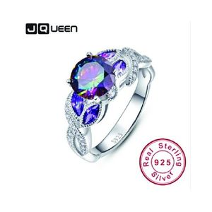 Real 925 Sterling Silver Sapphire Engagement Ring