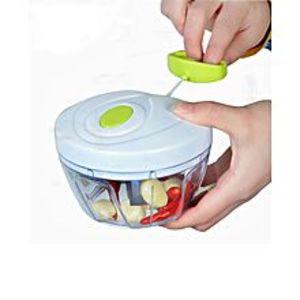 DealsManual Food Chopper Powerful Hand Held Vegetable Chopper Mincer Blender Chop Fruits Vegetables Nuts