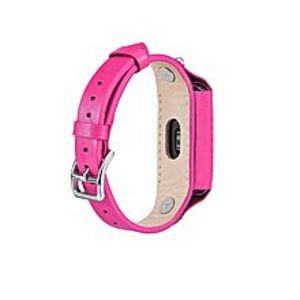 LNKOOXiaomi Mi Band 2 Leather Watch Wristband Strap  - Pink