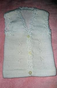 Pack of 3  Baby Sweater - White ( Front Button to Button )