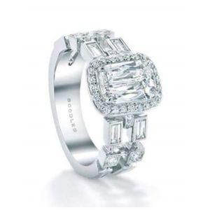 Diamonds Style Stone Silver 925 Ring