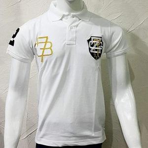 Double logo Zara polo t.shirt in white