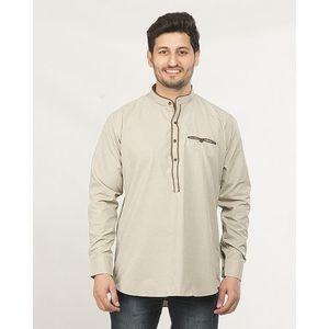 Khadi Green Contrast Shirt