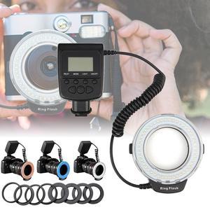 【Free Shipping + Flash Deal】LED Macro Ring Flash Light Lamp Speedlite For Nikon Canon Panasonic DSLR Camera