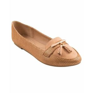 Camel Artificial Leather Womens Pumps 071-304