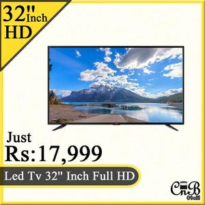 Led Tv 32'' Inch Full HD With Wall Bracket Free