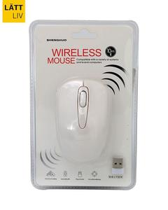 Fashion Mosaic Wireless Mouse ( White)