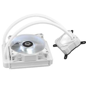 Vktech- ID-COOLING ICEKIMO 120W Pure White Water Cooler CPU Radiator Cooling Fan