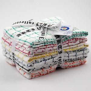 Alkaram Towel 6 - Piece Kitchen Towel Yarn Dyed Multi Colors
