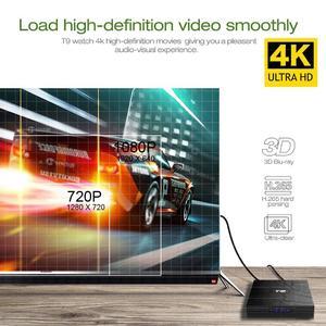 Android SMART TV BOX T9 4GB+64GB QUAD CORE 4K ULTA HD 9.0V
