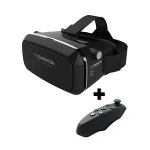 Bundle Deal - VR Shinecon Virtual Reality 3D Glasses & Gaming Remote - Black