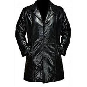 Leather CreativeBlack Leather Long Coat For Men
