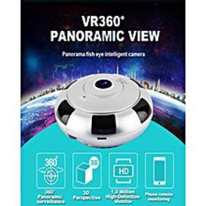 Secure OneIP Wirelss Panoramic Fish 360° Camera 1280*960P (1.3MP) Day/Night