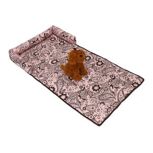 happy-island  Luxury Pet Sofa Bed Pad Dog Cat Puppy Couch Mat Cosy Kennel Pad Cushion Pink Flower Printed L