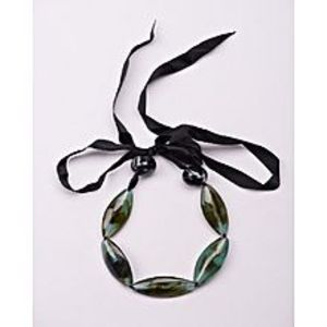 BTWGreen Leather Necklace For Women