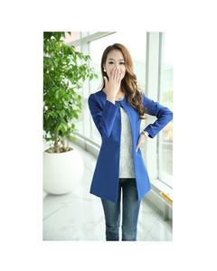 Fleece Stylish O-Neck Trench Long Coat For Women