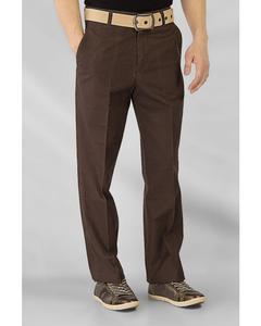 Dark Brown Cotton Twill Wrinkle Free Chinos