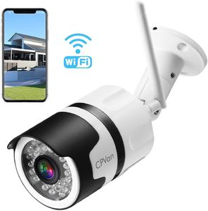 CPVAN 1080P WiFi Camera, Wireless IP Camera Outdoor with 82ft Night Vision, Two Way Audio Motion Detection