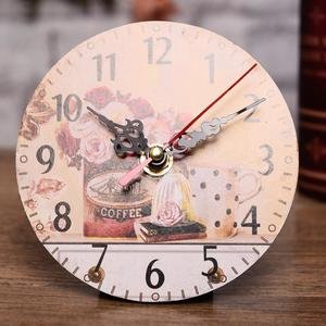 Antique Wall Clock Vintage MDF Wooden Wall Clock  Home Decor Horloge