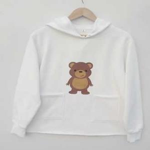 Bear Hoodie Outside Two Pockets