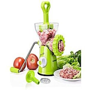 Variety StoreMeat Grinder,Stainless Steel Plate,Powerful Suction Base,Hand Crank for All Meat,Dried Cooked Food