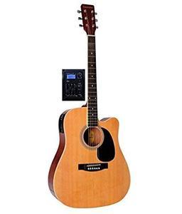 Semi Acoustic Guitar Giannini Electric Cutaway 41 Jumbo Guitar (Design By Brazil)