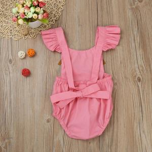 MissFortune Toddler Infant Baby Girls Ruched Tassel Romper Jumpsuit Sunsuit Outfits Clothes