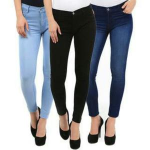 Pack of 3 - Women's Fine Quality Skinny Fit Jeans for Casual Wear - ARA-3PantW-Jeans