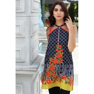 So Kamal Winter Collection  Black Karandi Embroidered 1PC -Unstitched Shirt DPW18 760 EF01275-STD-BLK