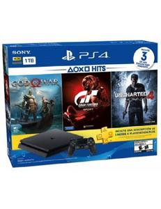 Ps4 Hits Bundle: Playstation 4 1Tb + 3 Hit Games + 3 Months Playstation Plus Membership Card