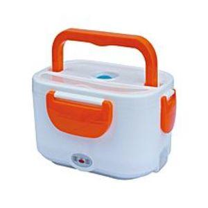 ShopnSaveElectric Heating Lunch Box - White & Orange